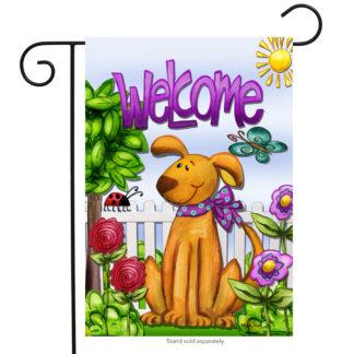 Welcome Dog Garden Flag - g00023