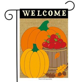 Welcome Harvest Burlap Garden Flag -g00725