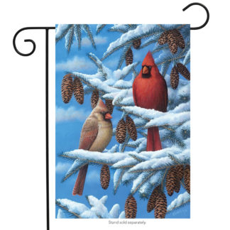 Winter Cardinals Garden Flag - g00220