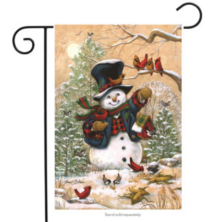 Winter Friends Garden Flag (Snowman) - g00089