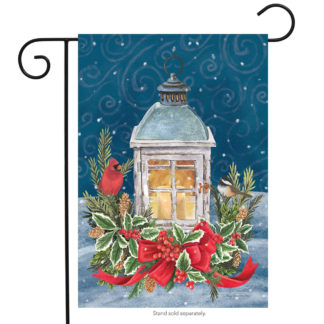 Winter Lantern Garden Flag -g00519