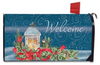 Winter Lantern Mailbox Cover -m00519