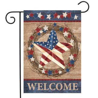 Americana Barnstar Garden Flag -g00777