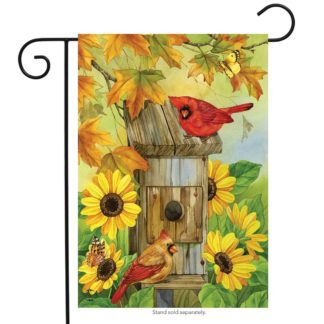 Cardinals & Sunflowers Garden Flag -g00733