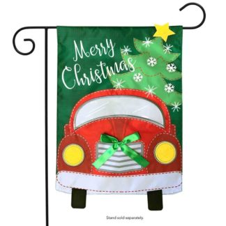 Christmas Truck Applique Garden Flag -g00747