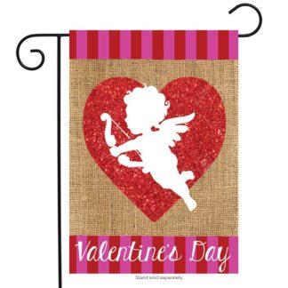 Cupid Burlap Garden Flag -g00647