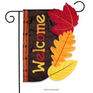 Fall Leaves Applique Garden Flag -g00737