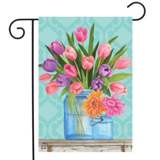 Fresh Cut Flowers Garden Flag -g00798