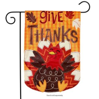 Turkey Applique Garden Flag - g00742
