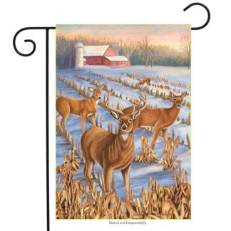 Winter Deer Garden Flag -g00723